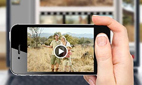 insérer des vidéos dans un album photo