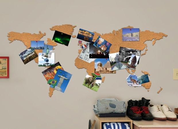 mapemonde pour photos de vacances à faire soi même