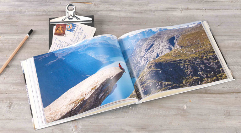album photo sur la montagne au format A4 panorama