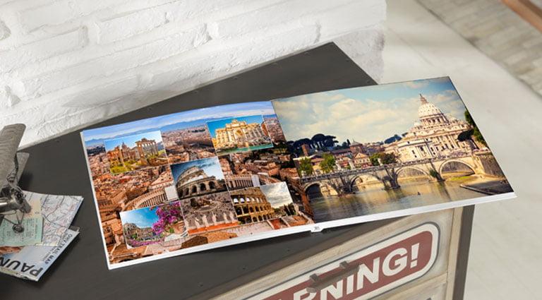 album photo sur Rome au format A4 panorama