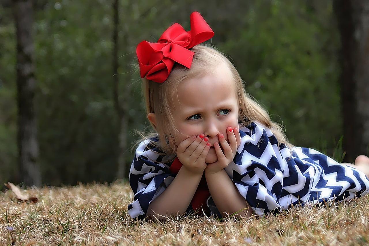 photographier sa petit fille